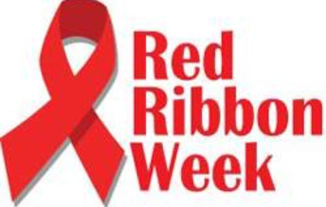 Red Ribbon with wording - Red Ribbon Week