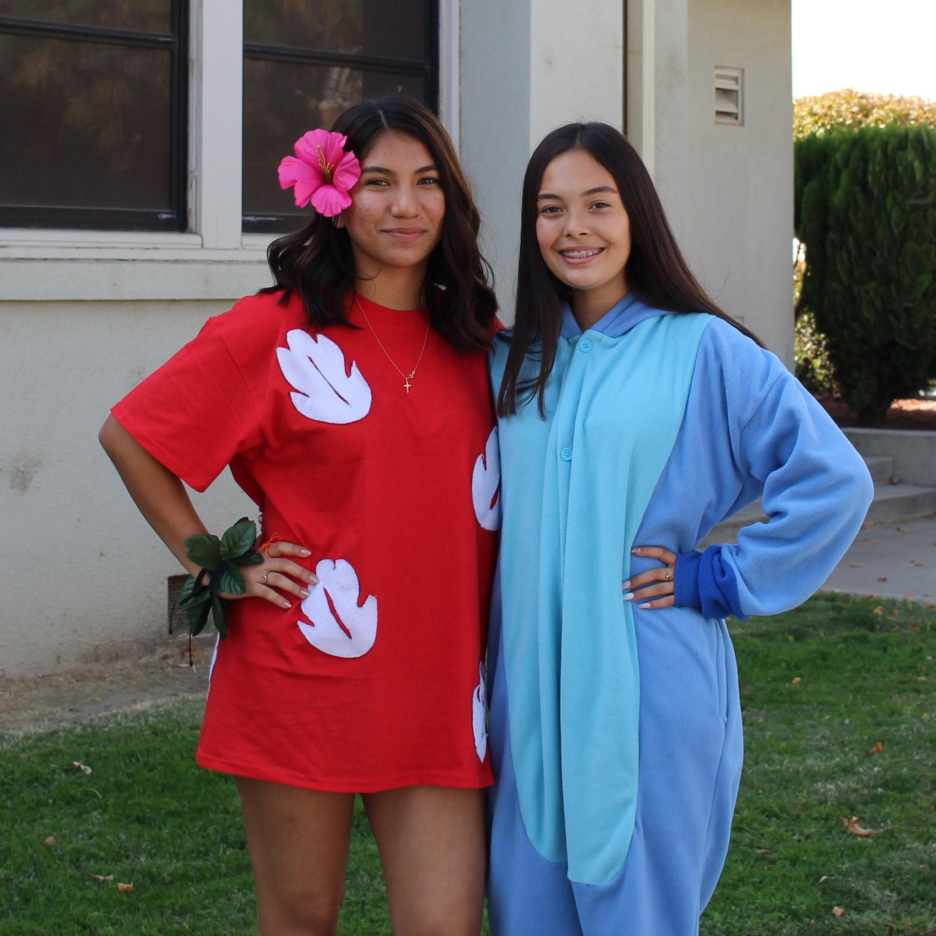 Emily Puente and Victoria Vera as Lilo and Stitch