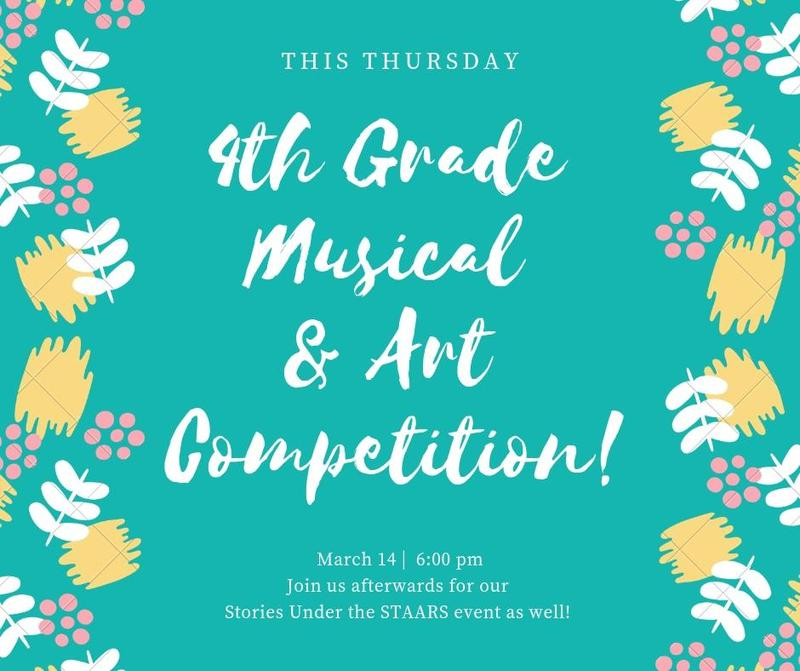 Art Show and 4th Grade Concert! Thumbnail Image