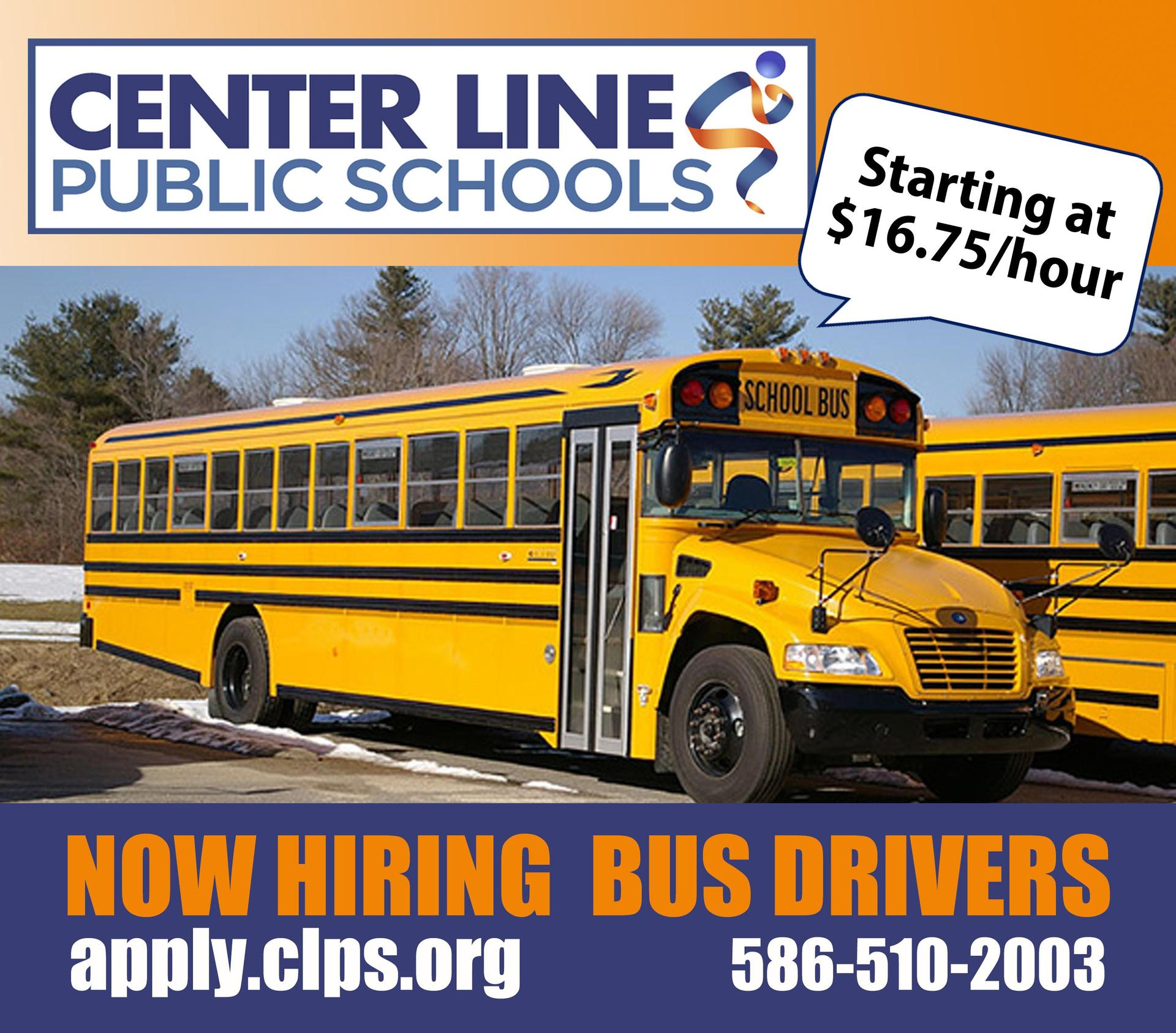 Bus drivers wanted $16.75/hour