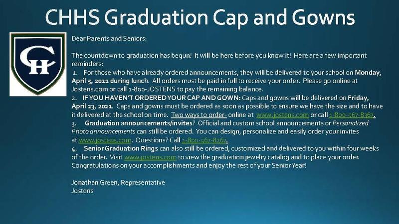CHHS Graduation Cap and Gowns