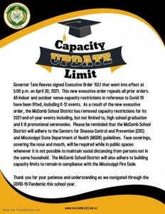 MSD Capacity Limit Update