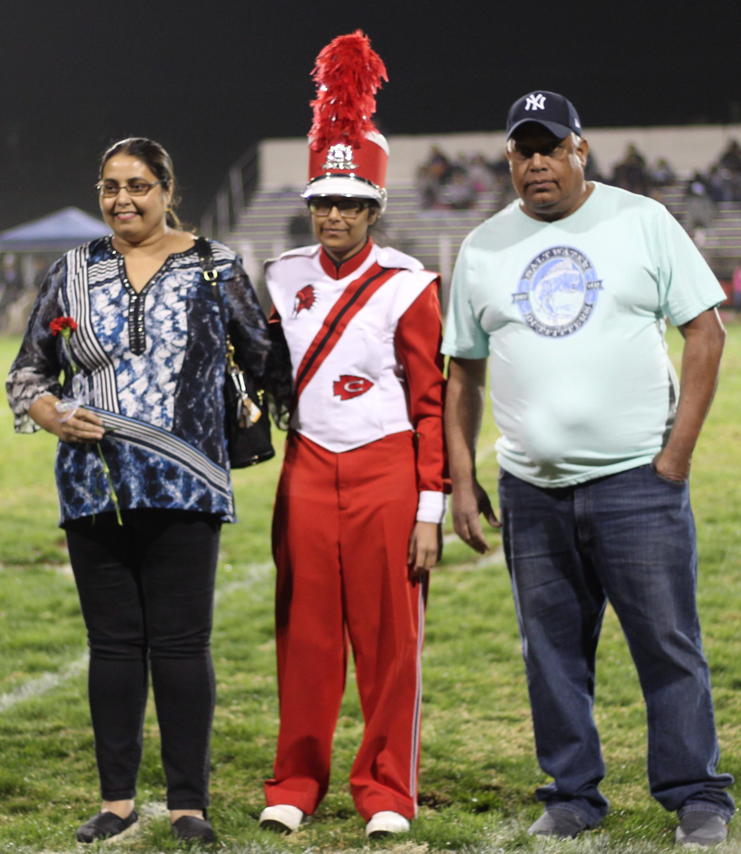Senior band member Abhineet Singh and her escorts.