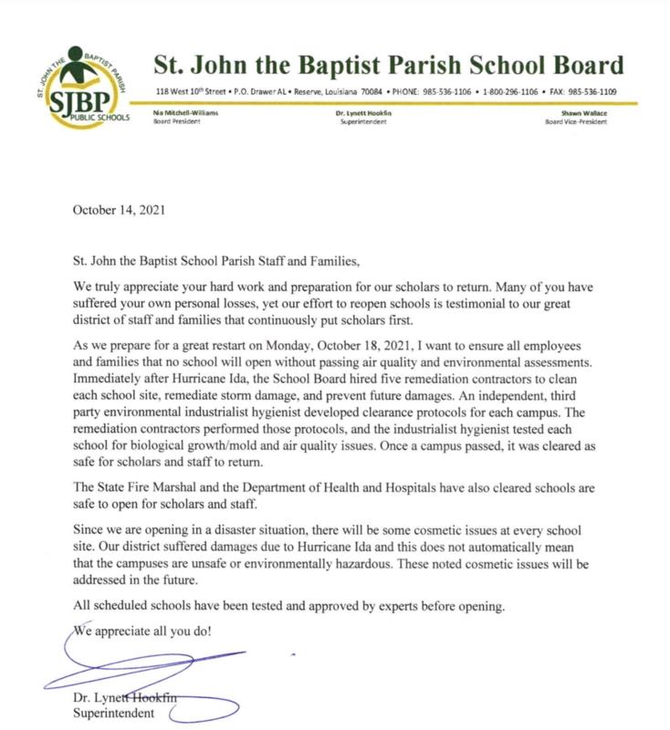 Message From Superintendent Dr. Lynett Hookfin Thumbnail Image