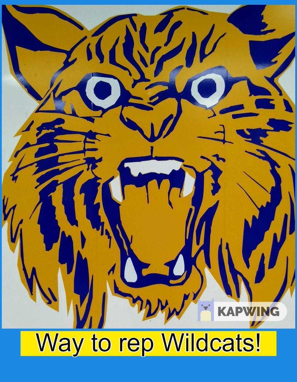 Wildcat logo with 'Way to rep Wildcats' caption