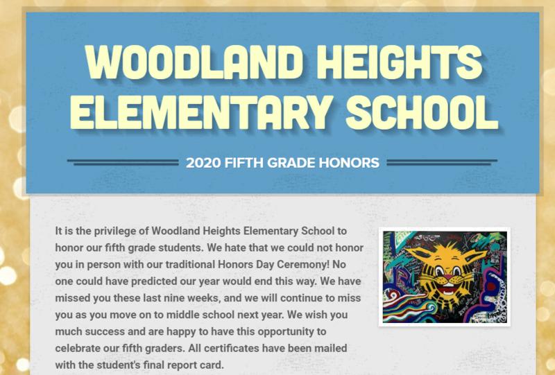 5th Grade Honors Newsletter