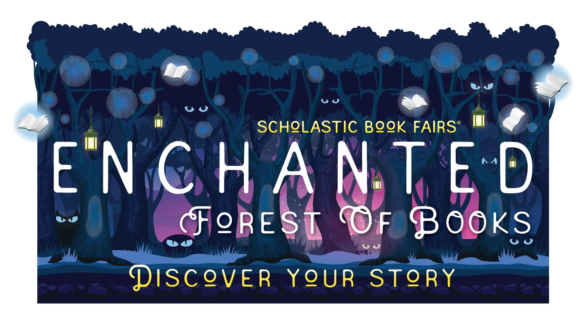 Scholastic Book Fairs Enchanted Forest Logo