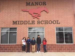 Duke TIP students from Manor Middle