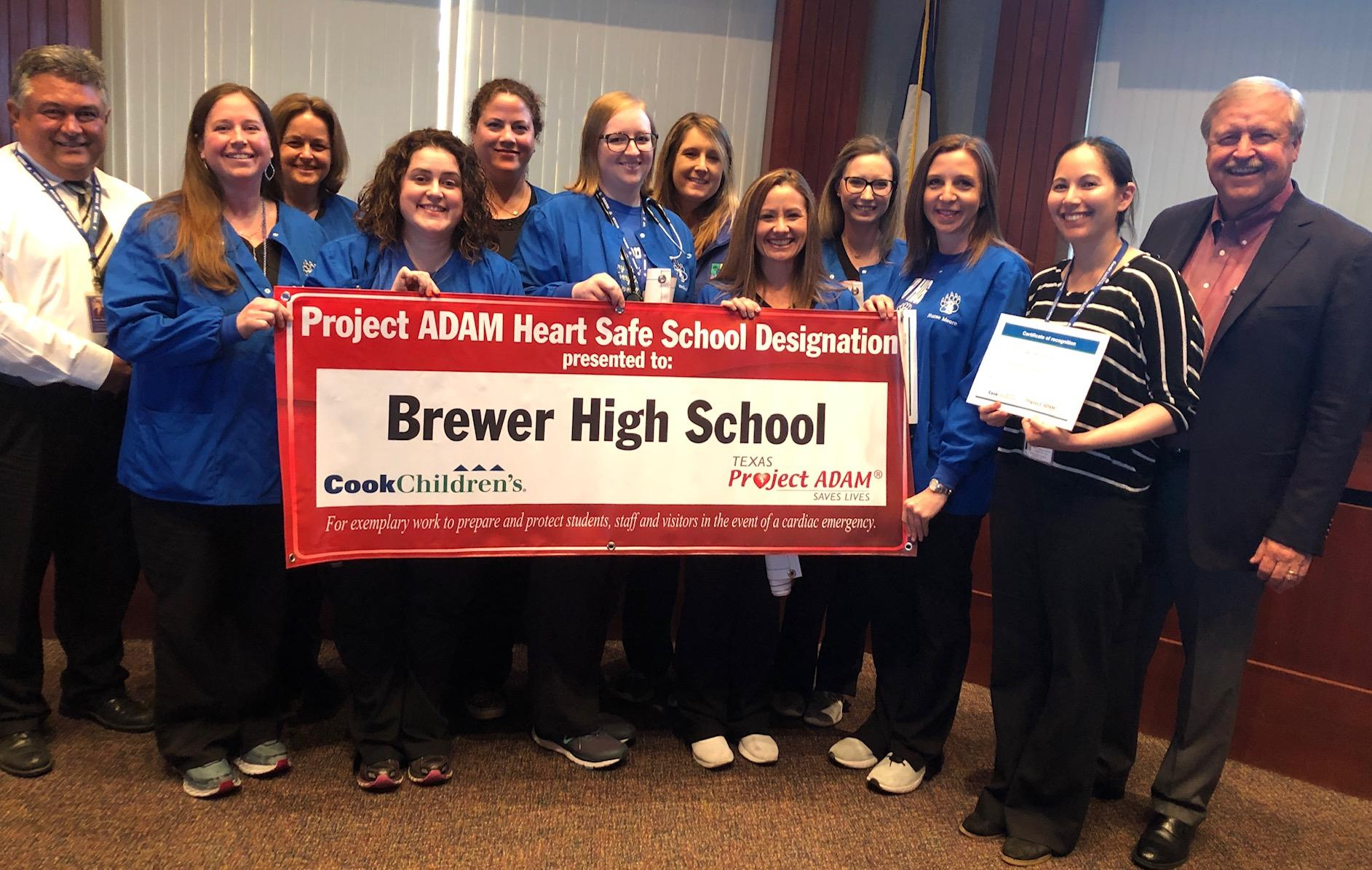White Settlement ISD was recognized as a Project ADAM School District during the March 25 school board meeting, and every WSISD school was named a Project ADAM Safe School.