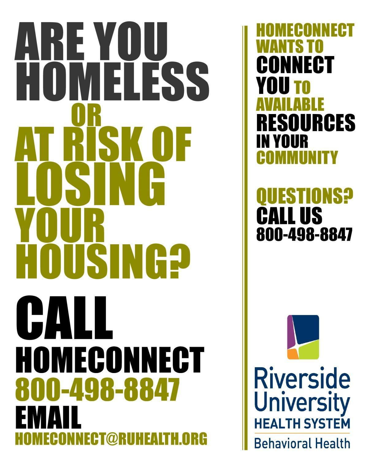 HomeConnect Homeless Assistance