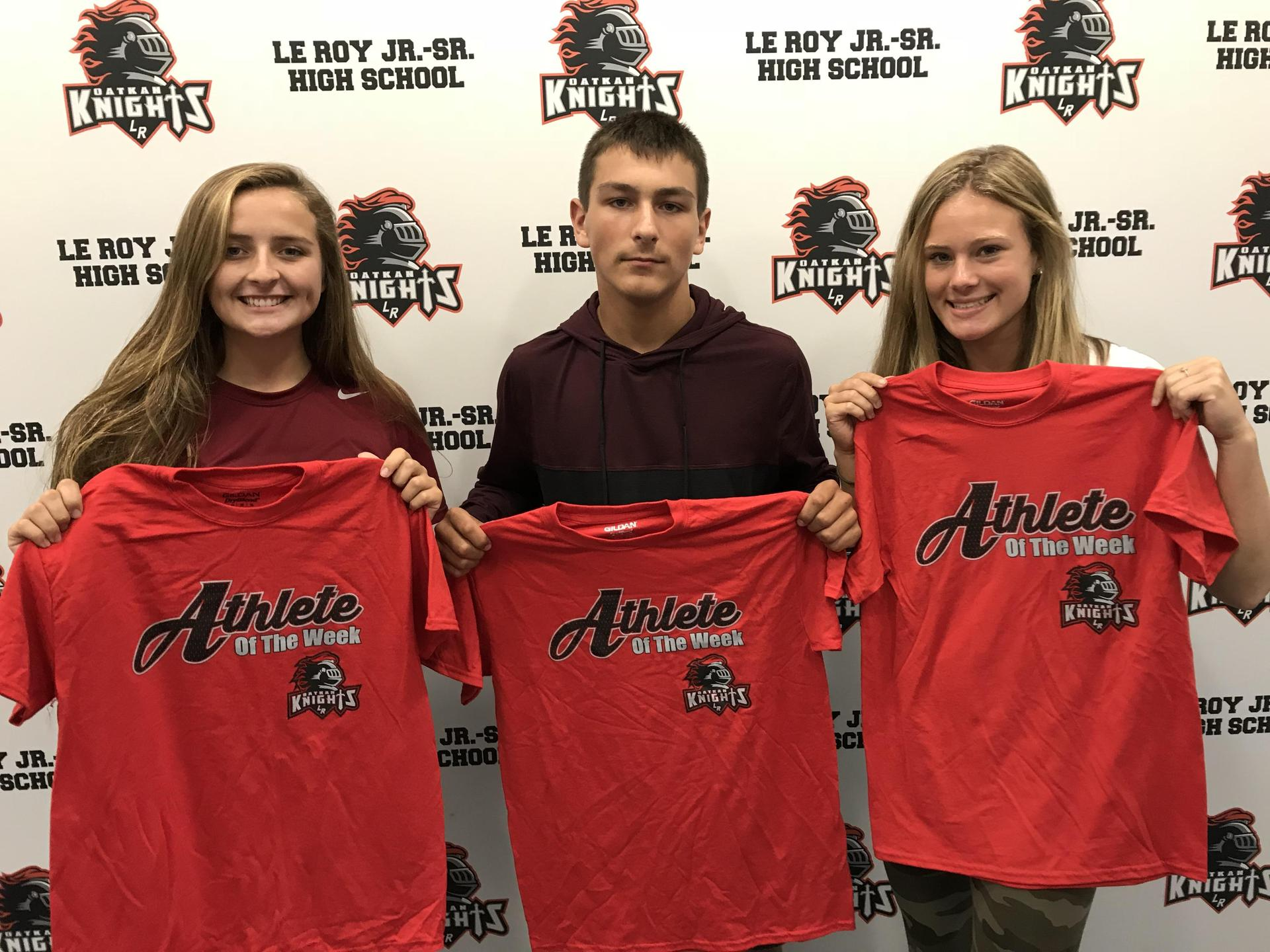 Athletes of the Week - Riley Pasquale, Kyler LaCarte, Maddie Keister