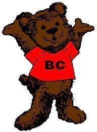 BC bear mascot wearing a red tshirt