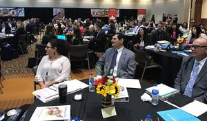 Edinburg CISD principals, directors and administrators are pictured attending the 2019 Leadership Academy at the Edinburg Conference Center at Renaissance.