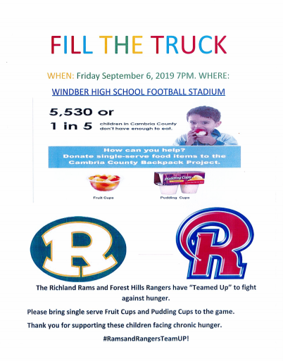 FILL THE TRUCK - Friday September 6, 2019 Featured Photo