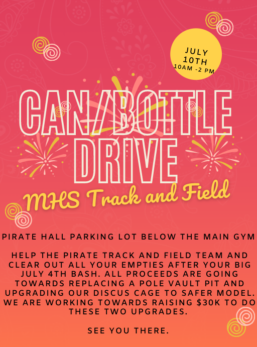 MHS Track Can/Bottle Drive