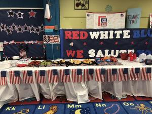 food table for our veterans.