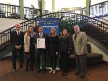 Lake Center receiving their School to Watch award in Sacramento.
