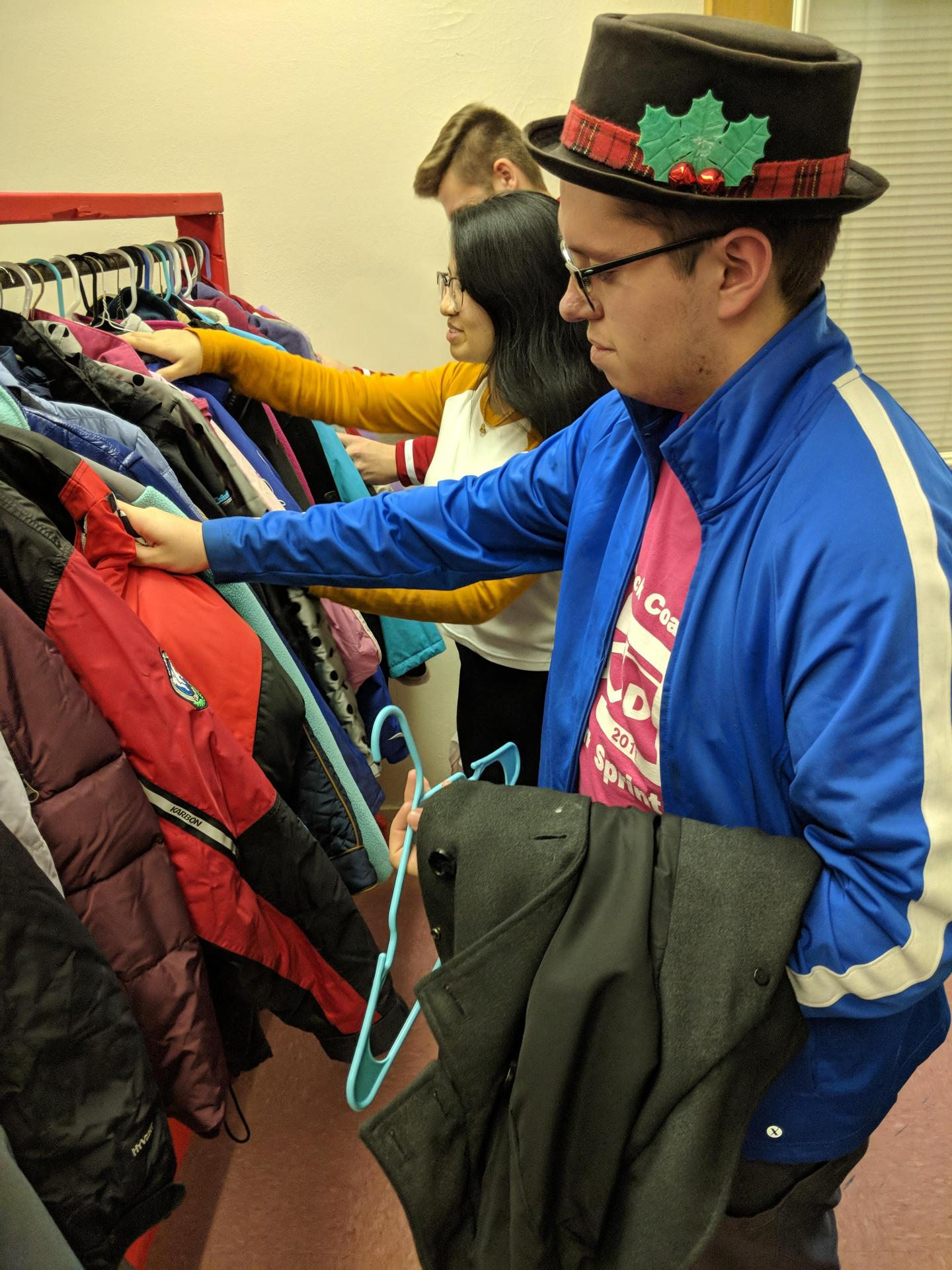 Free winter coats at Massena High school