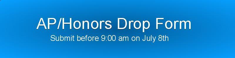 AP/Honors Drop Form Banner