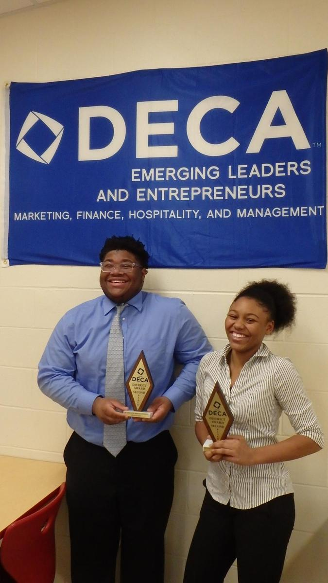 Christian and Cori get 2nd place at DECA competition