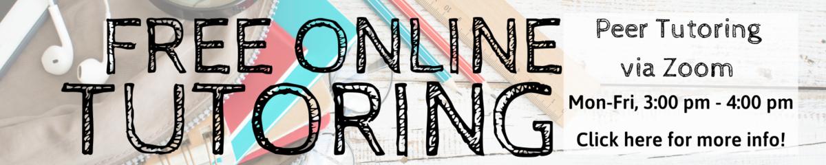 Free Tutoring 3:00-4:00