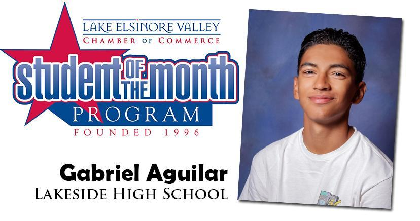 Gabriel Aguilar, Lakeside HS, Student of the Month, October, 2020.