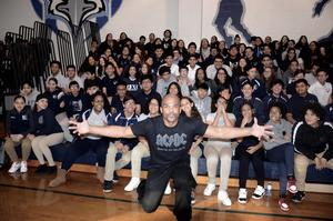 Darryl aka DMC with JmFA students