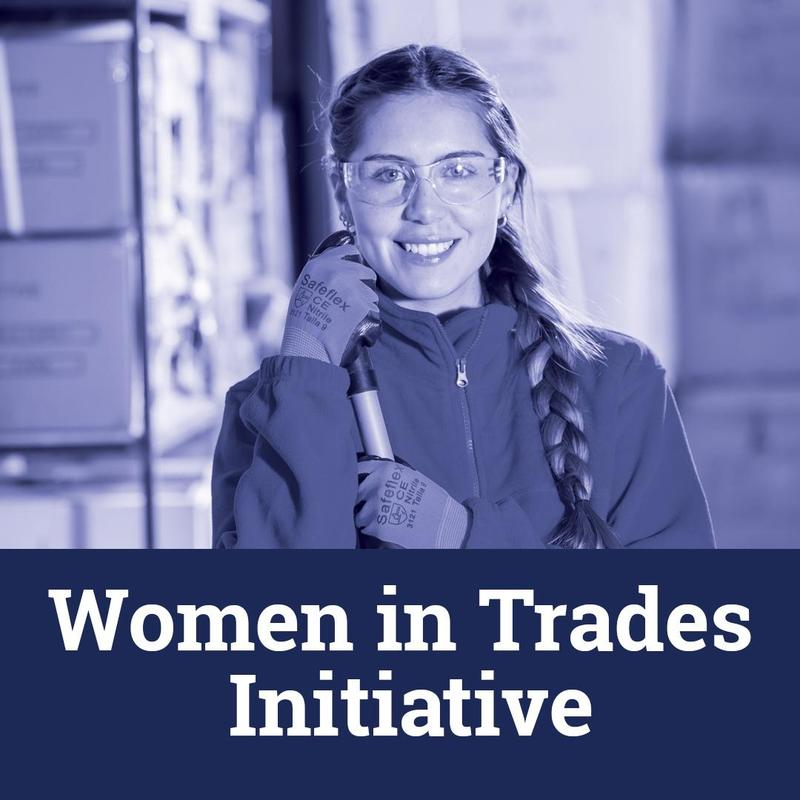 image of young woman representing the trades