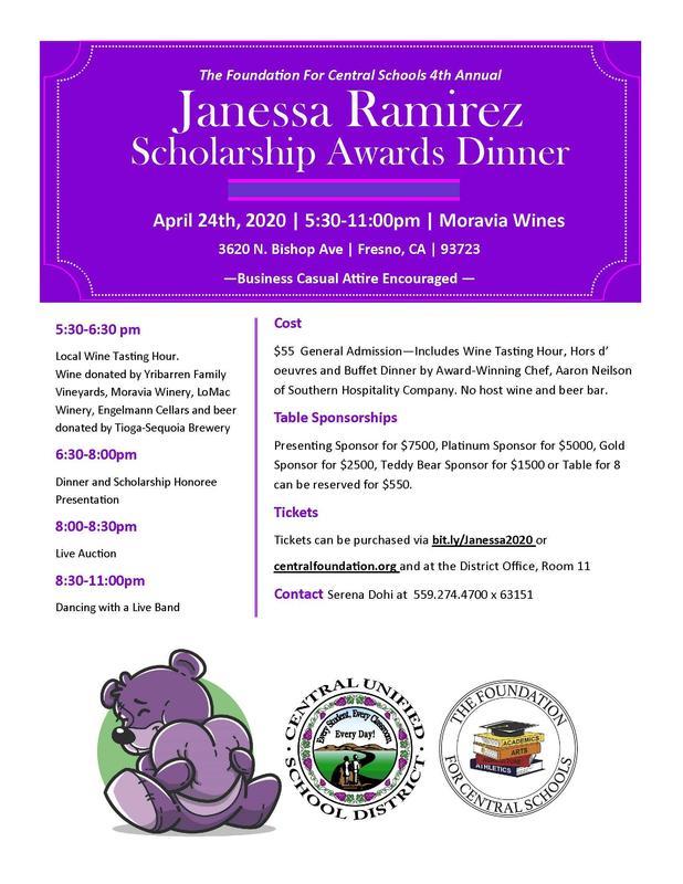Janesssa Ramirez Scholarship Flyer