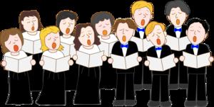 Cartoon Choir members