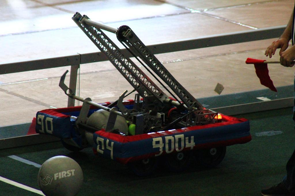 Practice robot on field