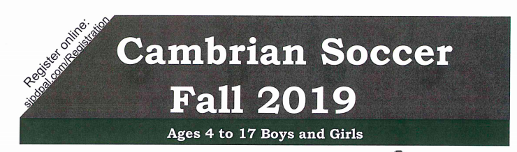 Fall Cambrian Youth Soccer