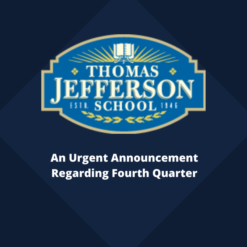 An Urgent Announcement Regarding Fourth Quarter Featured Photo
