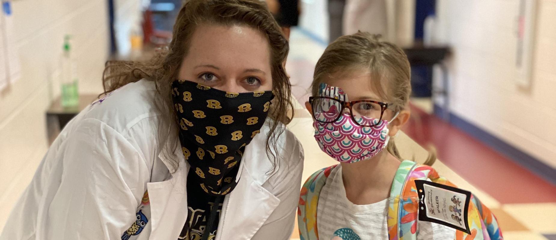 student with nurse