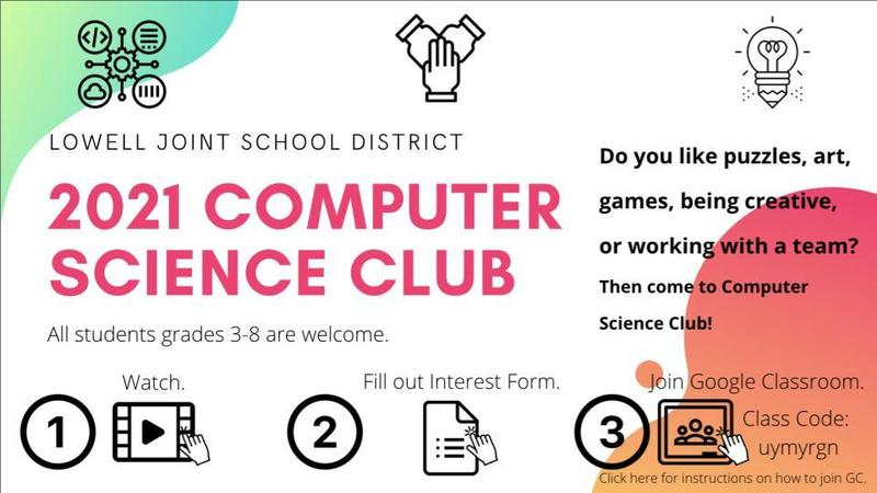 2021Computer Science Club flyer