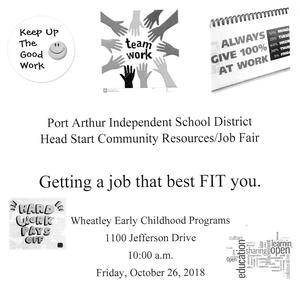 head start job fair flyer