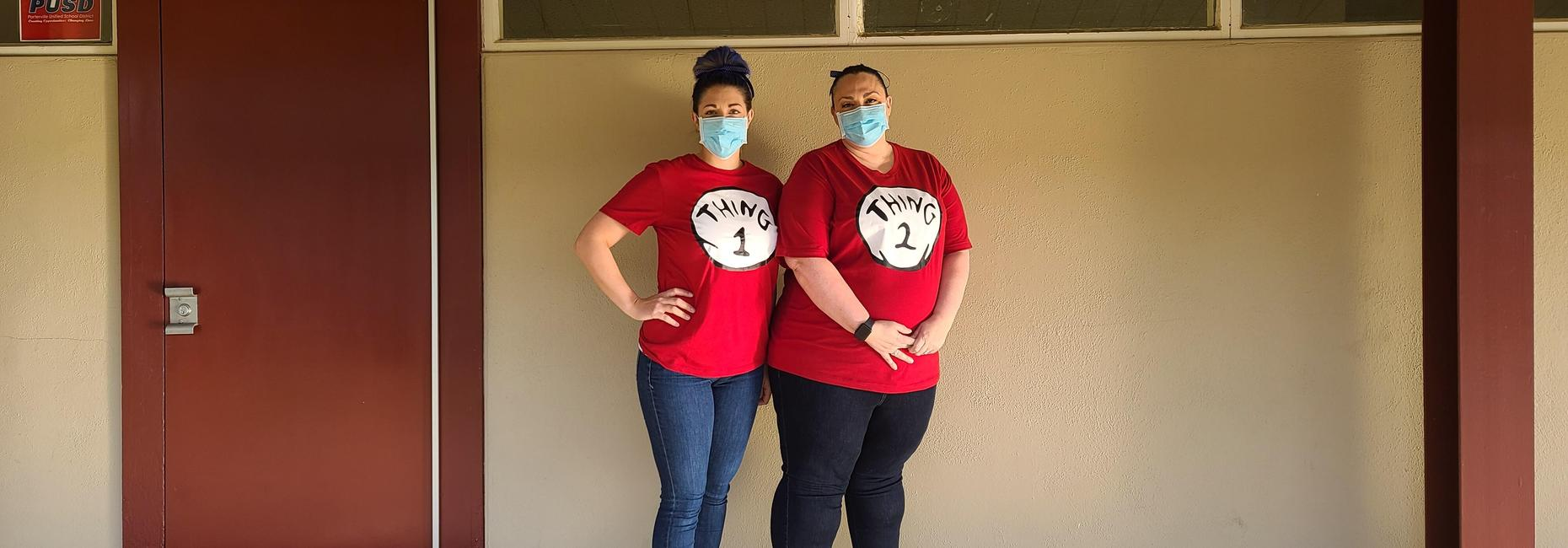 HAPPY BIRTHDAY DR. SEUSS- Thing 1 and Thing 2