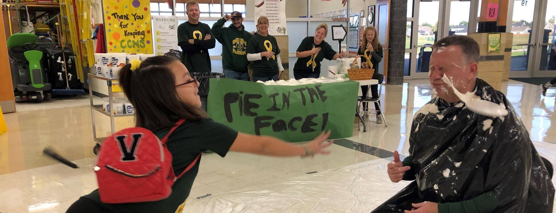 pie in the face