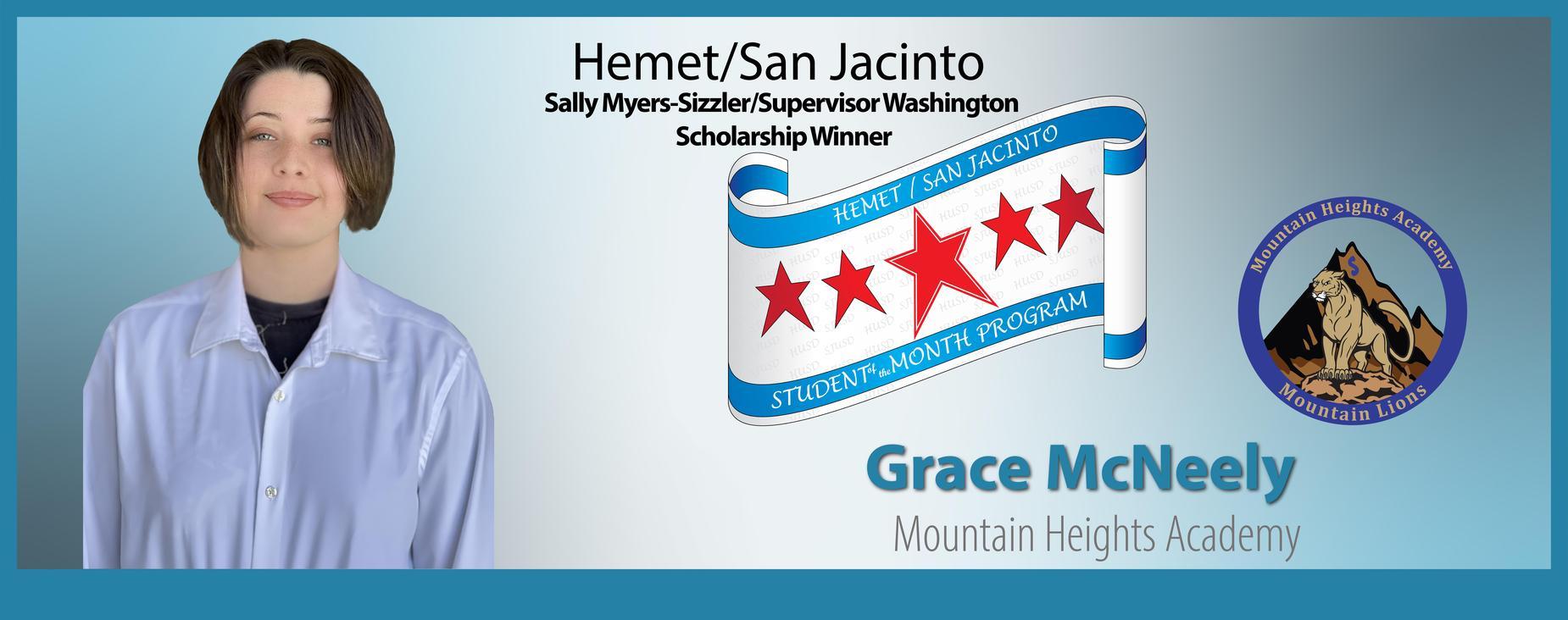 Grace McNeely Scholarship Winner