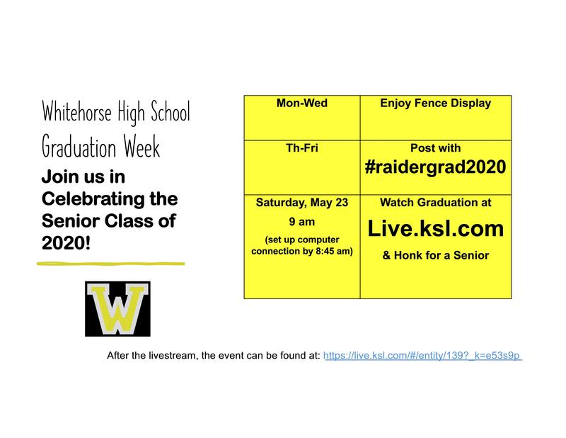 post with #raidergrad2020 & go to live.ksl.com on May 23 at 8:55 am