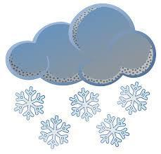 Cloud with snowflakes falling