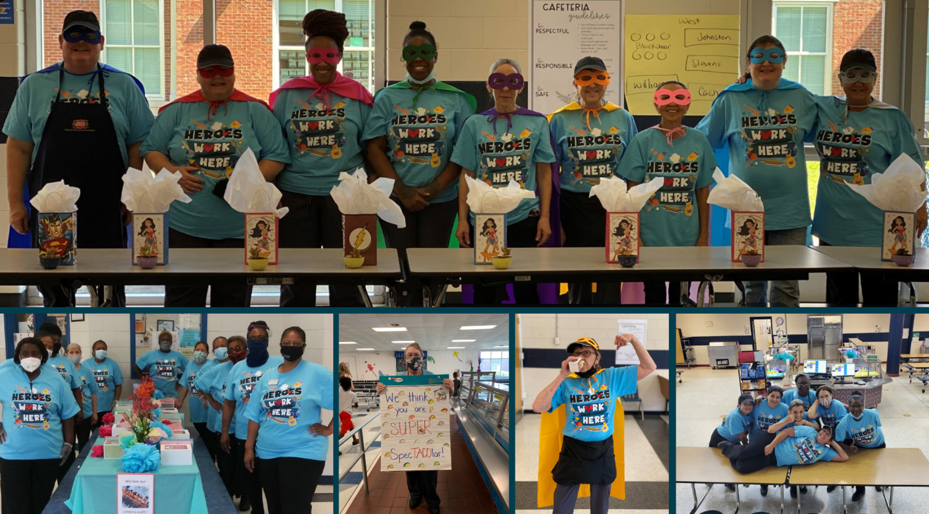 School Lunch Heroes Collage