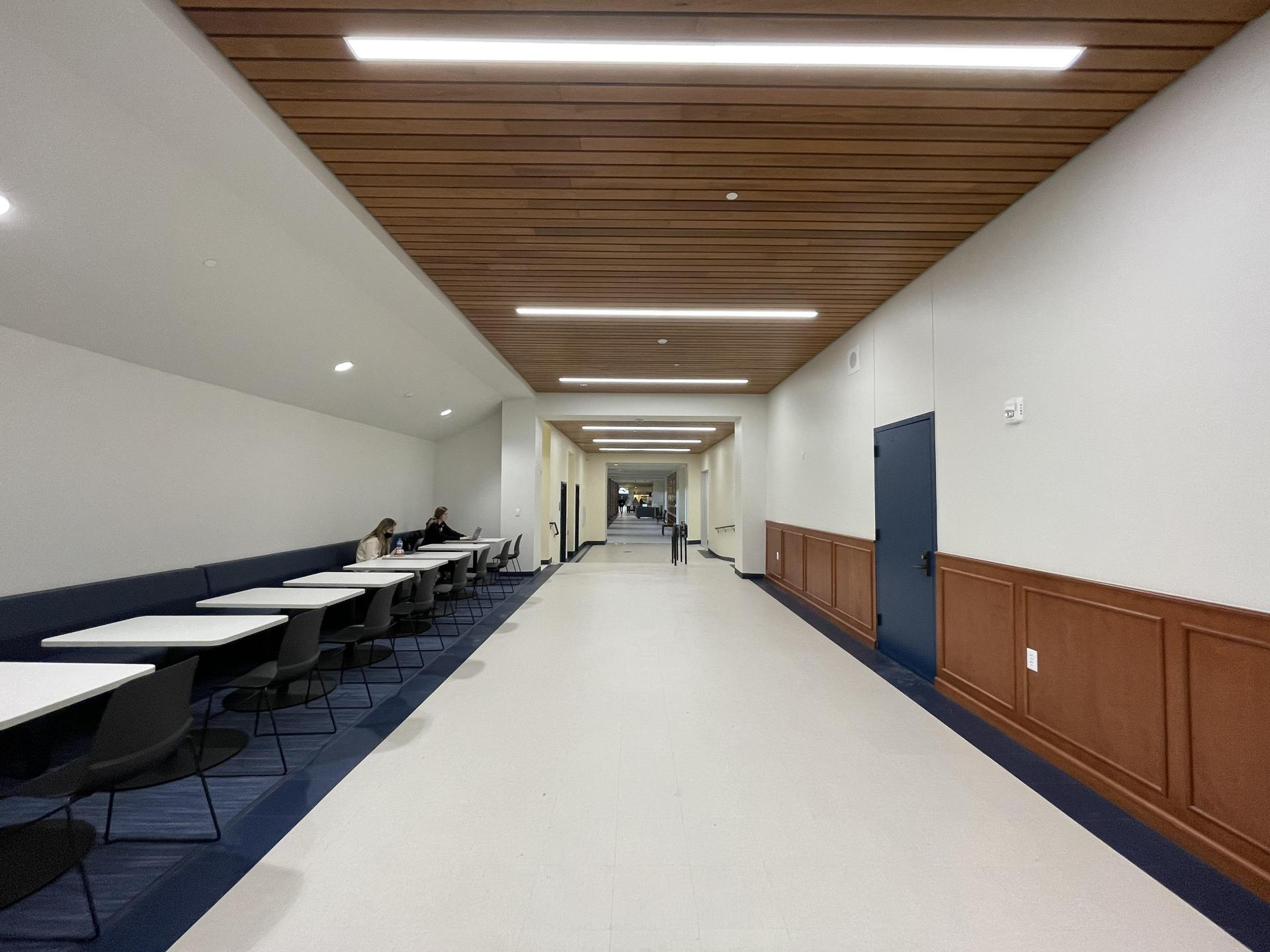HPHS new entry connecting hallway