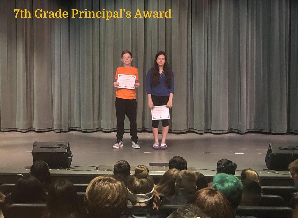 7th Grade Principal's Award