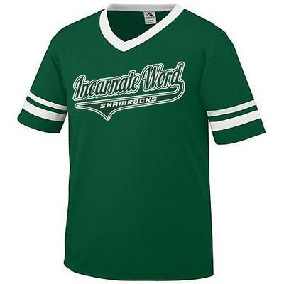Photo of green IWHS shamrock short sleeve shirt