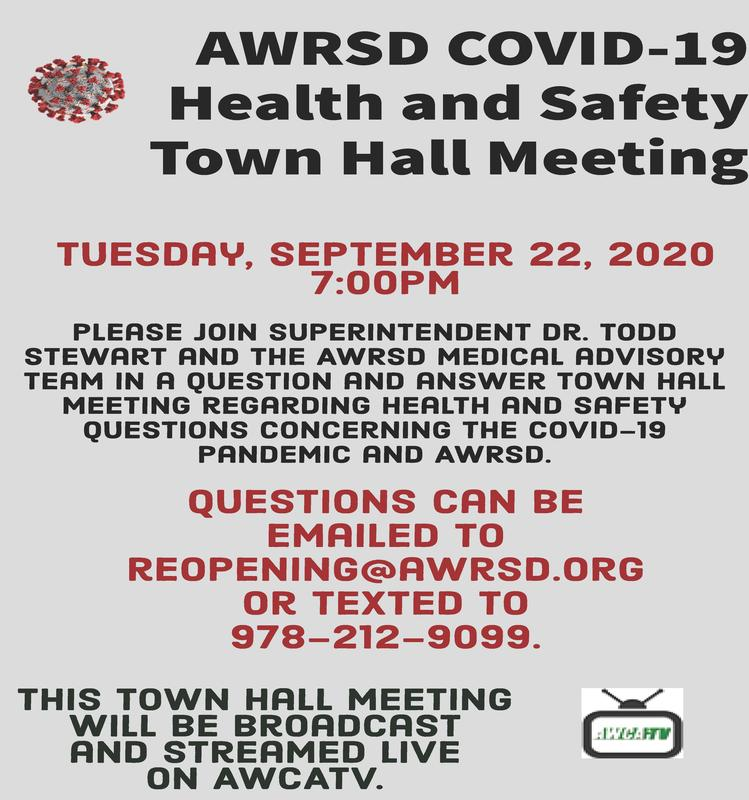 AWRSD COVID-19 Town Hall Meeting 9/22/2020 Featured Photo