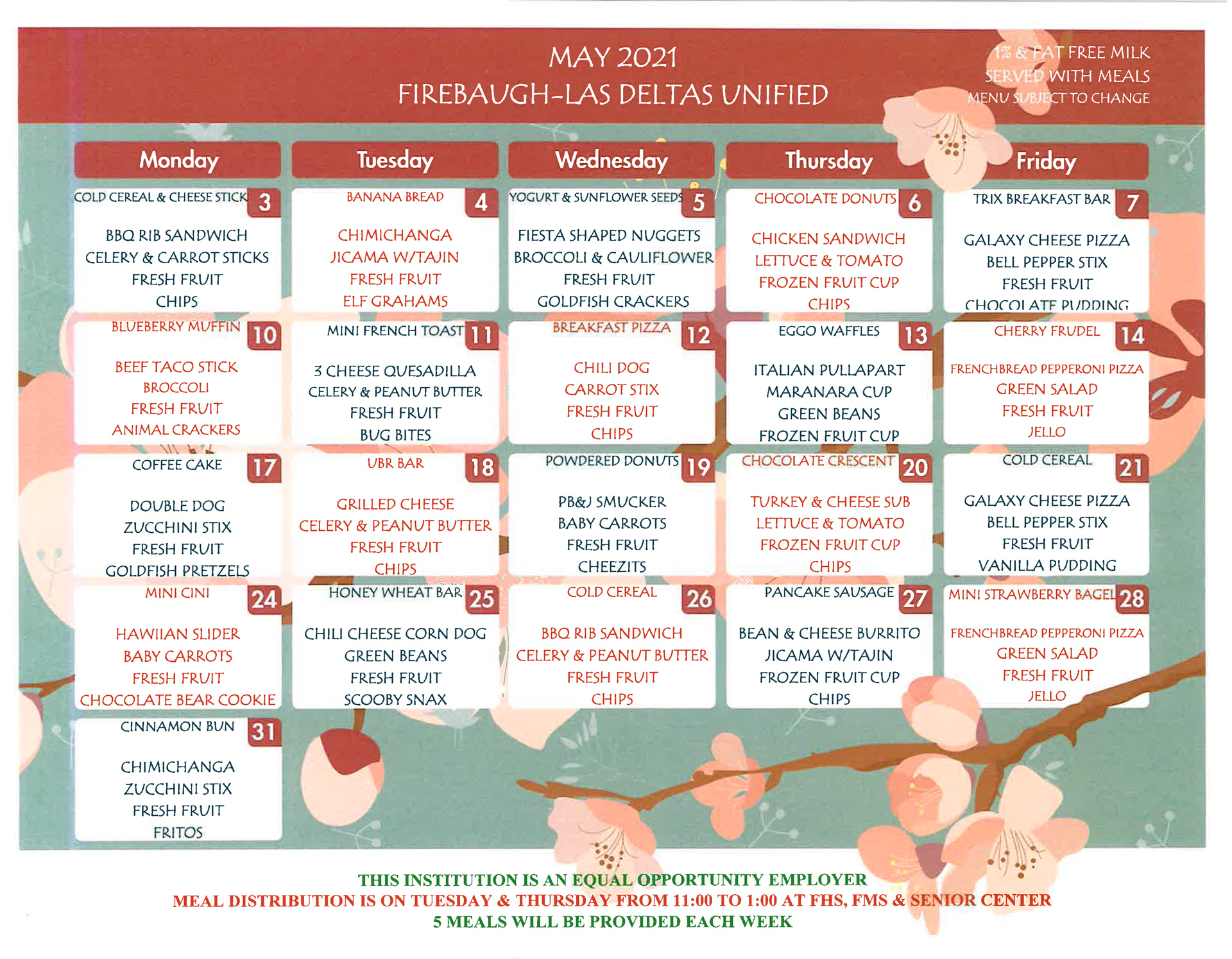 May menu
