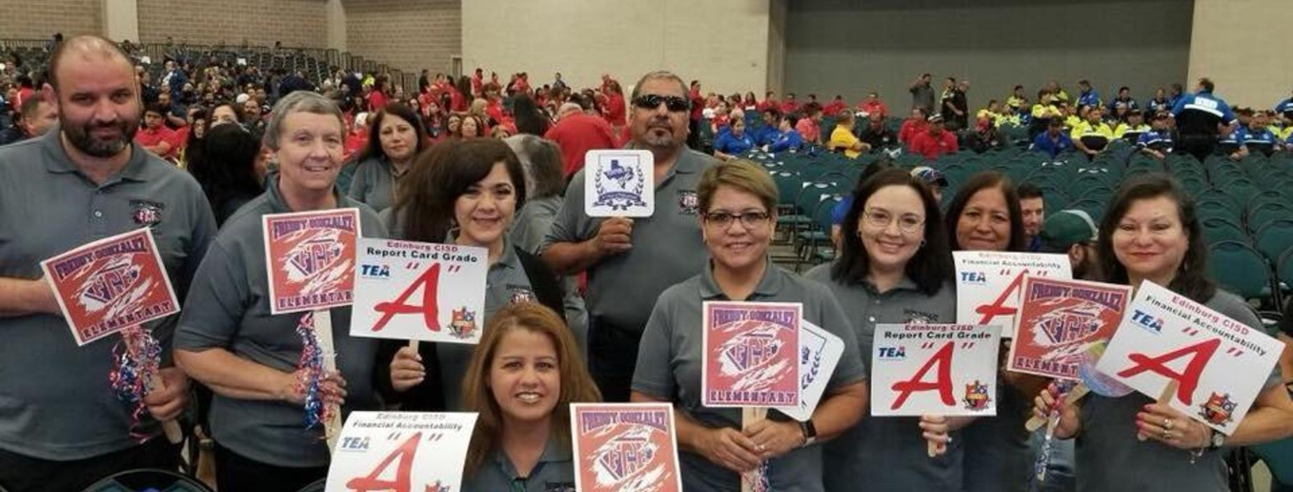 FGE staff at welcome assembly