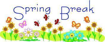Spring Break is March 25 - April 5.  School resumes Monday, April 8. Thumbnail Image