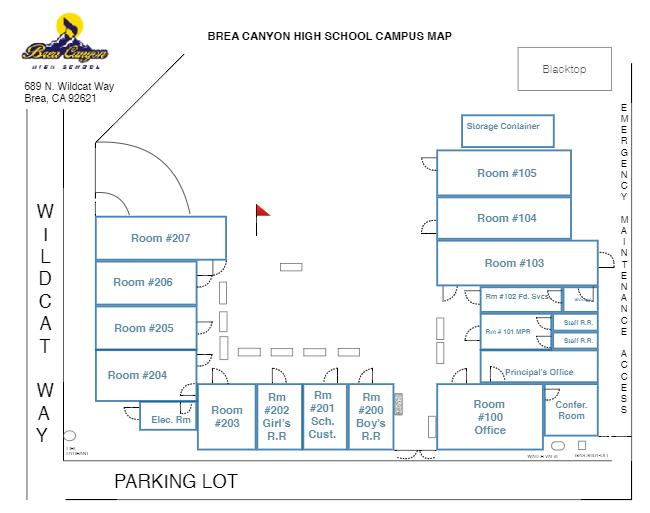 BCHS Campus Map